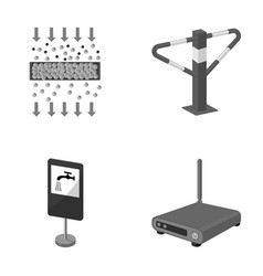 internet facility equipment and other monochrome vector image