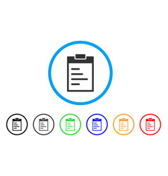 Inventory pad rounded icon vector
