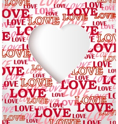 Love texture greeting card vector image