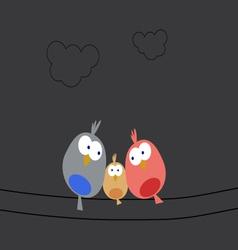 Night bird family vector image vector image