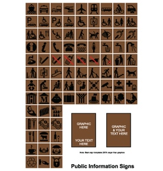 Public information signs vector