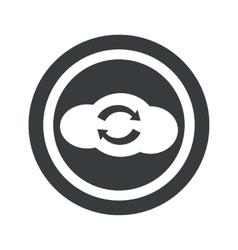 Round black cloud exchange sign vector