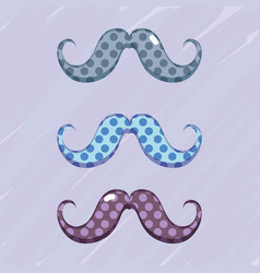 Set diferent mustache decoration design vector