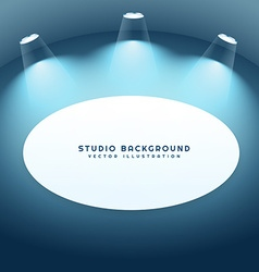 studio background with frame vector image vector image