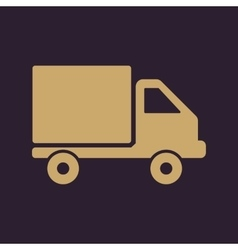 The truck icon delivery and shipping symbol flat vector