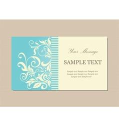 vizit card vintage blue vector image