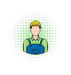 Worker comics icon vector