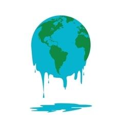 melting world icon vector image