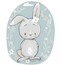 cute cartoon hare vector image
