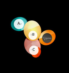abstract circles on black vector image