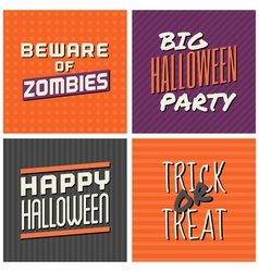 Retro design halloween greeting cards vector