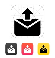 Sending mail icon vector