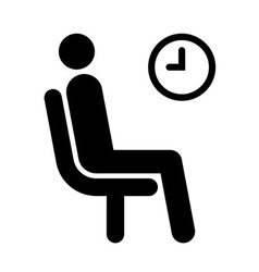 Waiting room symbol vector