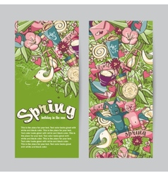 Set of vertical banners on the theme spring vector image