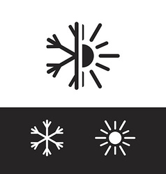 Air conditioning icon in eps vector