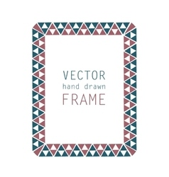 Hand drawn frame vector