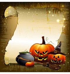 Background with pumpkins vector