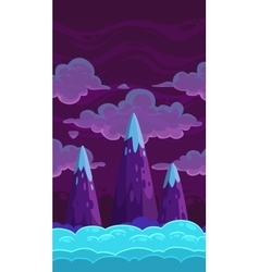 Vertical cartoon night background vector