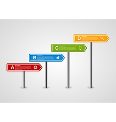 3d arrow signpost business options infographics vector