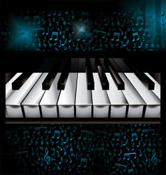Music piano background vector