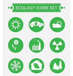 Ecology logo icons set vector