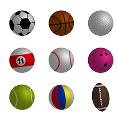 Collection of sport ball vector