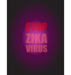 Zika virus as a danger concept art vector