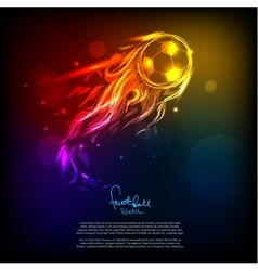 Bright soccer background vector
