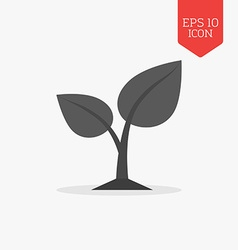 Sprout icon flat design gray color symbol modern vector
