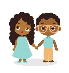 African American girl and young african american vector image vector image