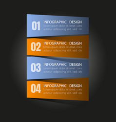 business steb options banner vector image