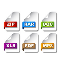 Colored document icons vector