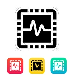 Cpu monitoring icon vector