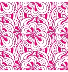 Doodle hand drawn abstract pink seamless vector