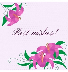 Floral frame with lilies vector