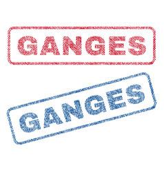 Ganges textile stamps vector