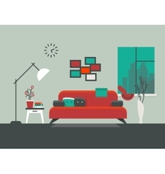 Home interior of living room vector image vector image