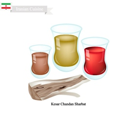 Kesar chandan sharbat popular drink in iran vector