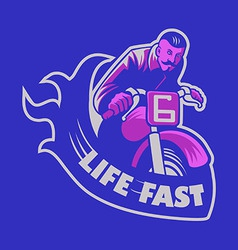 Life Fast vector image vector image