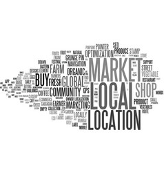 Local word cloud concept vector