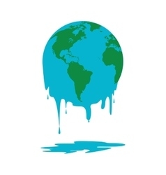 melting world icon vector image