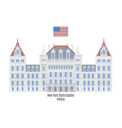 new york state capitol vector image