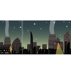 Night City Landscape Cartoon vector image vector image