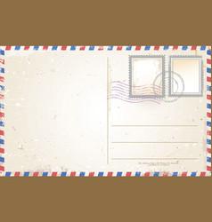old retro vintage postcard vector image