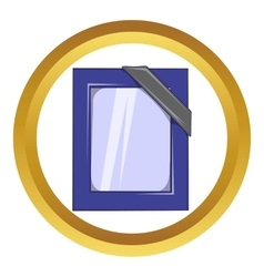 Photos of deceased with ribbon icon vector image