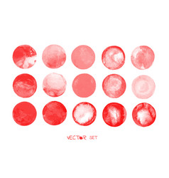 red blood circles set vector image vector image