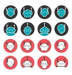 Robot heads collection vector