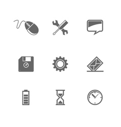 set of icons for mobile devices and Web site vector image