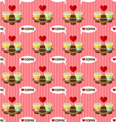 Take away hot coffee cups seamless pattern vector