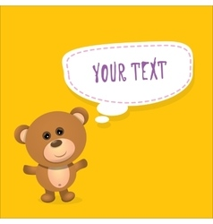 Teddy bear with speech bubble for text vector image